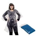 Αδιάβροχο πλαστικό με κουκούλα. 1120-blue-M