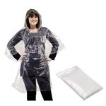 Αδιάβροχο πλαστικό με κουκούλα. 1120-clear-M