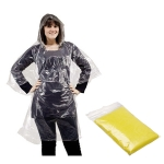 Αδιάβροχο πλαστικό με κουκούλα. 1120-yellow-M