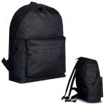 Σχολική τσάντα τύπου πόλο οικονομική.2327black-M