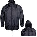 Αντιανεμικό αδιάβροχο μπουφάν, με κουκούλα. 2838-M-black