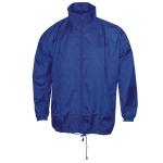 Αντιανεμικό αδιάβροχο μπουφάν, με κουκούλα. 2838-M-blue