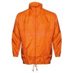 Αντιανεμικό αδιάβροχο μπουφάν, με κουκούλα. 2838-M-orange