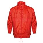 Αντιανεμικό αδιάβροχο μπουφάν, με κουκούλα. 2838-M-red