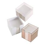 Κύβος πλαστικός τετράγωνος για χαρτιά. 1225
