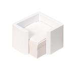 Κύβος πλαστικός τετράγωνος λευκός για χαρτιά.1200