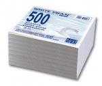 Φύλλα κύβου κολλητά λευκά. 500 φύλλα 9x9cm. 01038