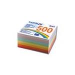Φύλλα κύβου κολλητά πολύχρωμα. 500 φύλλα 9x9εκ. .01028