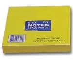 Αυτοκόλλητα χαρτάκια κίτρινα 7,6x7.6εκ. 100φ. 35082