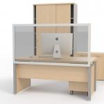 Επιτραπέζιο διαχωριστικό προστασίας 160x80cm, E0008