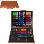 Σετ ζωγραφικής XXL σε ξύλινο κουτί 150 τεμαχίων Υ37x30εκ. 35210
