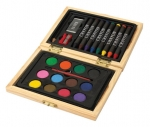 Σετ ζωγραφικής σε ξύλινο κουτί 24 τεμαχίων Υ11,6x15,6x2,9εκ. 286