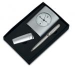 Σετ ασημί ρολόι - αναπτήρας - στυλό. 470-T