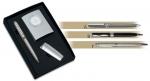 Κασετίνα Inox 5 τεμ. ρολόι - στυλό - αναπτήρα - κομπολόι - μπρελ