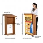 Έδρανο ομιλητή podium ξύλινο χωρίς ρόδες Υ114εκ.-17182
