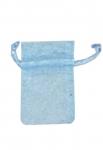 Πουγκιά οργαντέ γαλάζια 10x7.5εκ.-16249-03