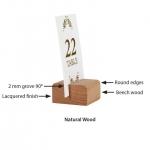 Επιτραπέζια ξύλινη βάση 2 όψεων για μενού 4x4εκ.