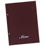 Μενού εστιατορίων μπορντώ basic Α4 23,5x32cm.11250-04