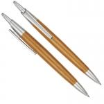 Στυλό ξύλινο baboo με μεταλλικά μέρη και κλιπ. 30901