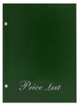 Μενού εστιατορίων Α5 Price list basic Πράσινο.11254-05