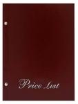 Μενού εστιατορίων Α5 Price list basic Μπορντό.11254-04