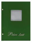 Μενού εστιατορίων Α5 Price List πράσινο με παράθυρο 11255-05