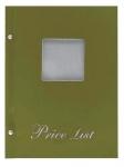 Μενού εστιατορίων Α5 Price List Μπεζ με παράθυρο 11255-24