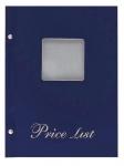 Μενού εστιατορίων Α5 Price List Μπλε με παράθυρο 11255-03