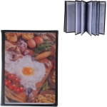 Μενού εστιατορίου μαύρο 29.7x21εκ. για 16 σελίδες.35255