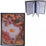 Μενού εστιατορίου μαύρο 29.7x21εκ. για 12 σελίδες.35254