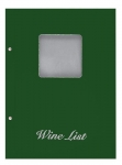 Wine list Τιμοκατάλογος Α4 basic πράσινος, με παράθυρο.11253-05