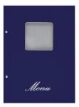Μενού εστιατορίων Α4 basic μπλε με παράθυρο. 11252-03
