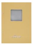 Μενού εστιατορίων Α4 basic μπεζ με παράθυρο. 11252-24