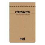 Μπλοκ σημειώσεων perforated λευκό 11x16,5εκ., οικολογικό. 03775