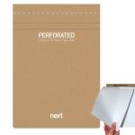 Μπλοκ σημειώσεων perforated λευκό 16,5x24εκ., οικολογικό. 03774