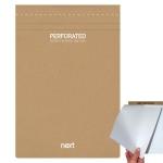 Μπλοκ σημειώσεων perforated λευκό 20x29εκ., οικολογικό. 03773