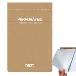 Μπλοκ σημειώσεων 11x16,5cm perforated ριγέ, οικολογικό. 03772
