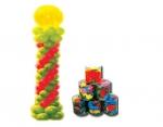 """Μπαλόνια βαρελάκι 23cm μεταλλικά μικρά"""" 150τεμ. 25853"""