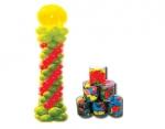 Μπαλόνια βαρελάκι 30cm μεταλλικά χρώματα 100 τεμ. 25854